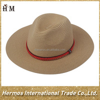 Ladies summer hat selling ladies beach straw boater hat to decorate