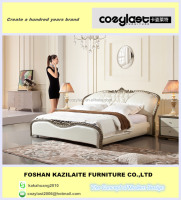 2015 latest wooden frame bed