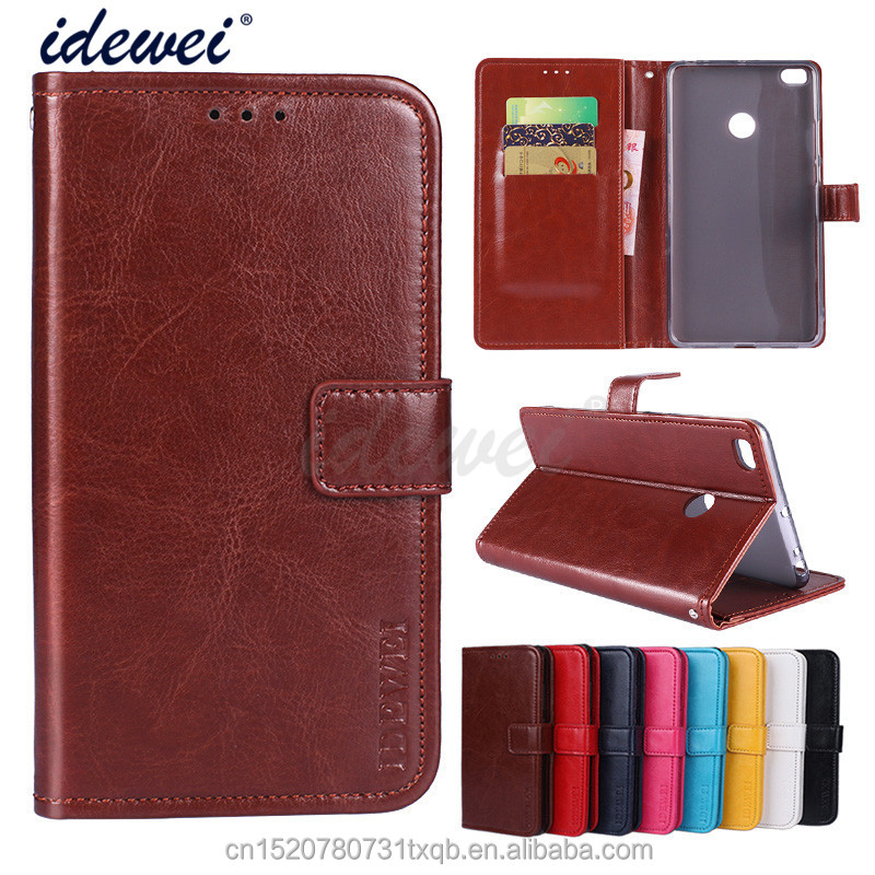 Luxury Flip PU Leather Wallet Mobile phone holster cover Case For Xiaomi Mi Max 2 with Card Holder