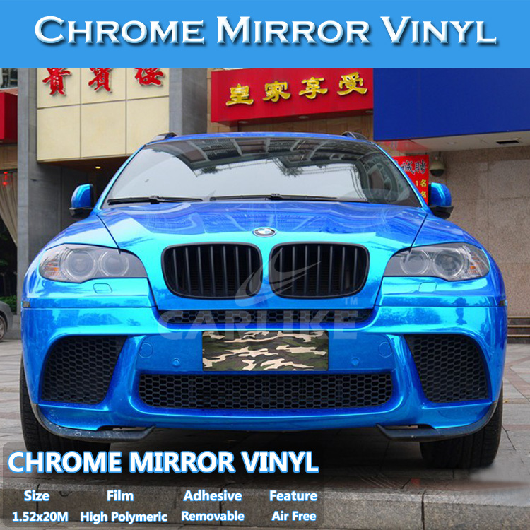 CARLIKE Stretchable Full Car Body Stickers Chrome Mirror Car Wrap Vinyls