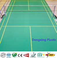 Plastic Flooring Type and Simple Color Surface Treatment Olympics Standard Badminton Court Flooring Sports Mats