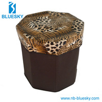 High quality low price pu storage stool
