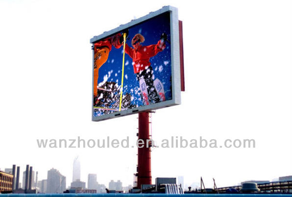 3cable system,wireless 3G,WIFI,USB,U DISK controller card outdoor full color RGB led display screen ph16mm