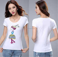 Fashion Ladies sublimation blank t-shirt 100% egyptian hemp crop top women japanese cotton made in china american apparel