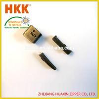 2015 Good selling high quality zipper insertion pin,zipper pin lock slider zipper pin and box