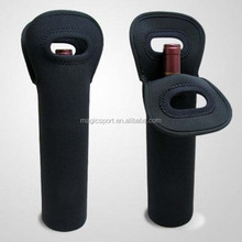 1 pack neoprne wine bottle holder with handle