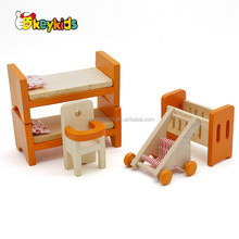 Wholesale lovely delicate doll house miniatures wooden furnitures toy for baby W06B057