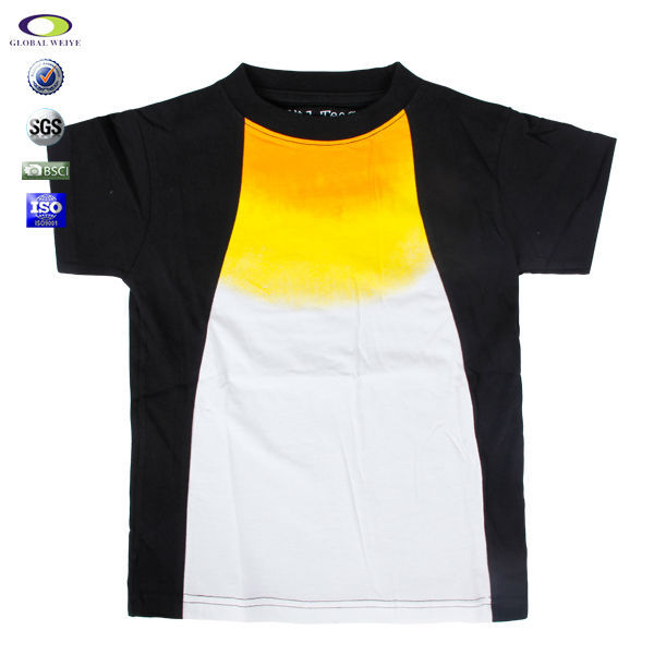 China factory make boys t-shirt with print or embroidery design