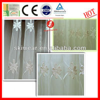 Anti-static Polyester Jacquard Sheer Curtain Fabric