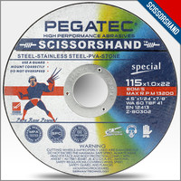 china made SCISSORSHAND 4.5inch 115x1x22mm cutting disk cutting discs for stone abrasive
