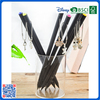 Wholesale slap-up black wood dipped HB pencil with lovely pendant for gift