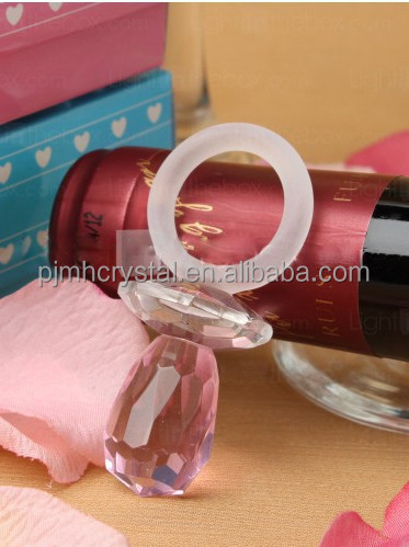 pink crystal pacifier for baby shower MH-L0260