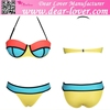 Yellow Flirt Push up Padded ww Sexy com Women Swimwear Bikini