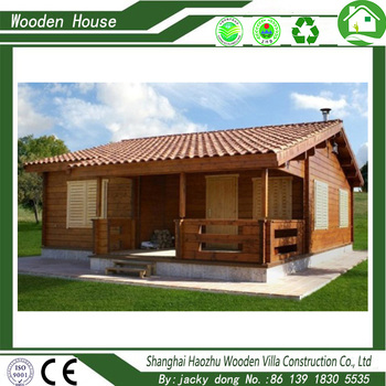Modern design prefabricated wooden villa house cottage holiday log house