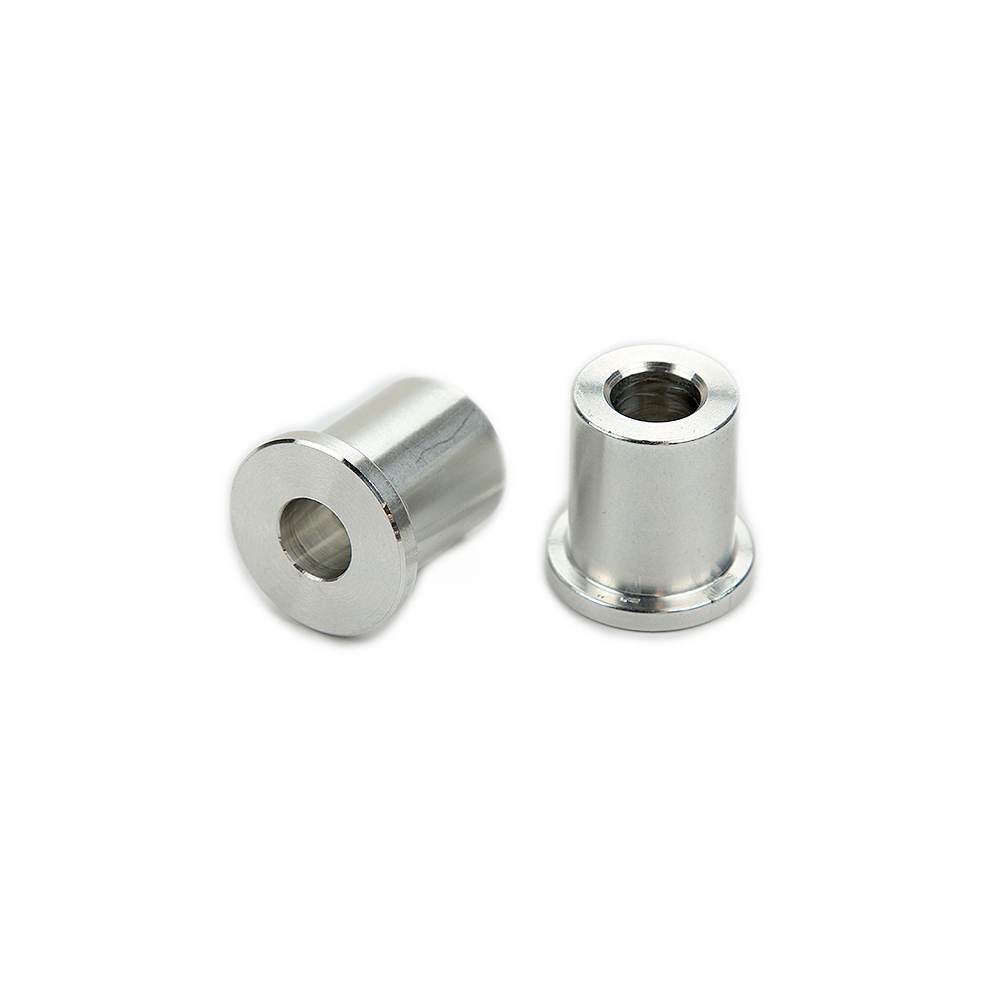 cnc turning pipe fitting machine aluminum bushing