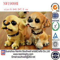 resin custom home decoration dog with bobble head dolls
