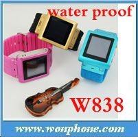 New Arrival Waterproof Wrist Watch Mobile Phone W838