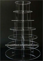 pops 5 tier acrylic cupcake stand party wedding cake display