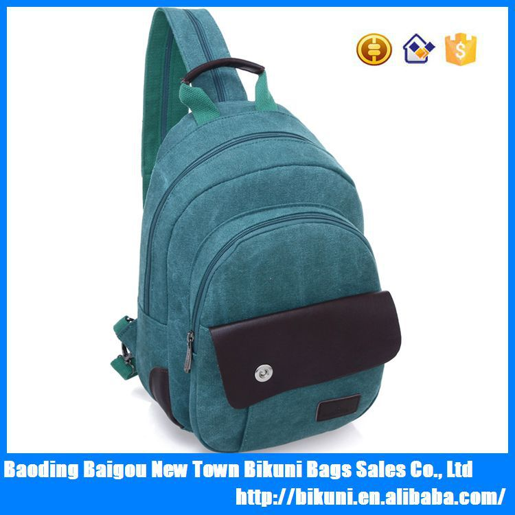 Wholesale price oem small school backpacks bagscanvas sling chest bag for men