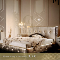 2016 Leather Bed Furniture With Solid Wood For Five Star Hotel-JLC Luxury Home Furniture