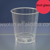 30ml clear and colored party small shot glass disposable plastic mini wine glass tasting cup
