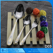 China manufacturer cheap stainless steel gold plated cutlery set