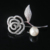 Hot Selling White Gold Plating Brass AAA Zircon Flower Brooch For Women