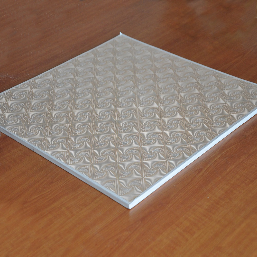 Heat insulation 60*60 PVC laminated Gypsum ceiling tiles