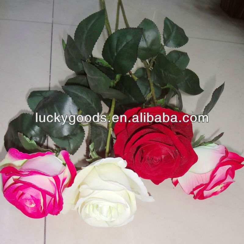 High quality simulation artificial rose flower,fake rose flower