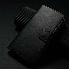 Wholesale phone casing luxury genuine leather wallet belt clip case for samsung galaxy s4