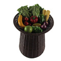 Factory OEM customized supermarket use fruit display basket stand