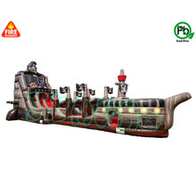 High quality PVC inflatable long giant slip water slide for adult