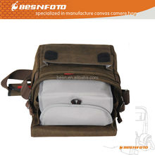 Besnfoto New Canvas Big Size laptop and camera Photo Messenger Bag