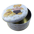 Round Shape Metal Food Packaging Box Wholesale Tin Container for Biscuit