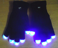 Hot Selling Party Favor Event & Party Item Type and Santa Claus Christmas Occasion LED Finger Light Gloves