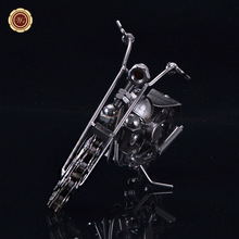 WR Collectible Vehicle Brinquedos Brass Motorcycle Model Decorative Toys Home Art Crafts 18X5X10 cm