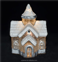 Ali wholesale best selling christmas gifts 2016, battery operate silvery mini christmas village house as home decoration