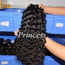 2016 hot selling best quality most popular unprocessed spiral curl brazilian hair weave bundles