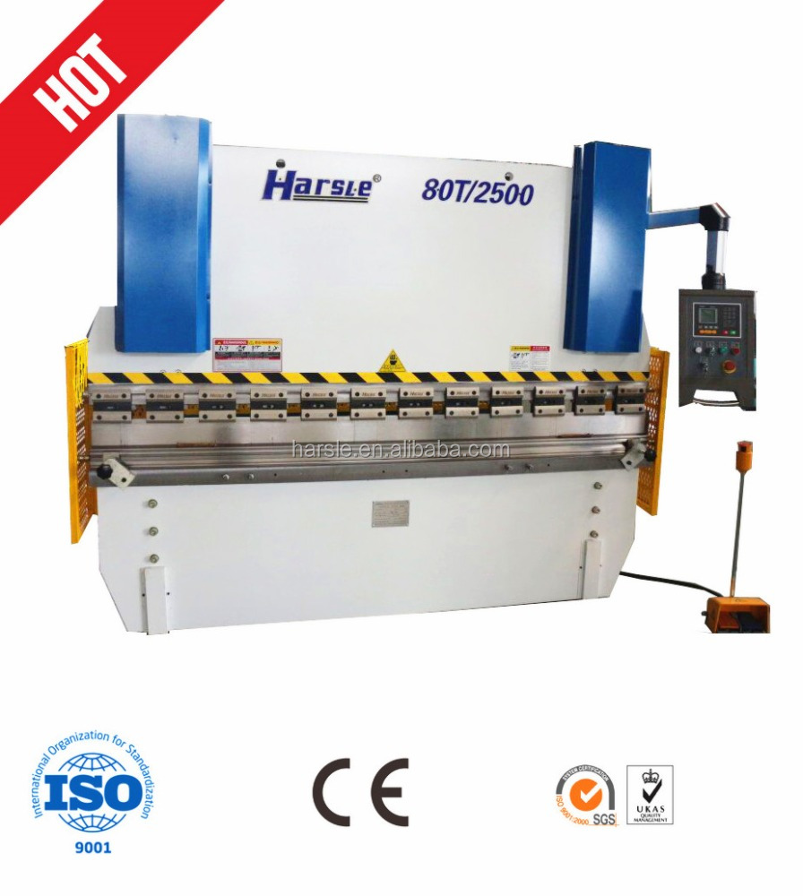 Euro Style Aluminum plate press brake equipment, Manual sheet metal bending machine 40T