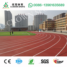 IAAF Approval Spray Coating System or Paint System synthetic running track,athletic track