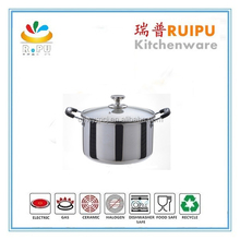 Polished Stainless Steel Cookware Sets Stock Pot Soup Pot Water Pot ,yiwu low cookware thermometer knob ,Used On Any Heat Souces