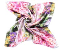 2014 New FanShou Bright colors soft touching 100% silk scarf