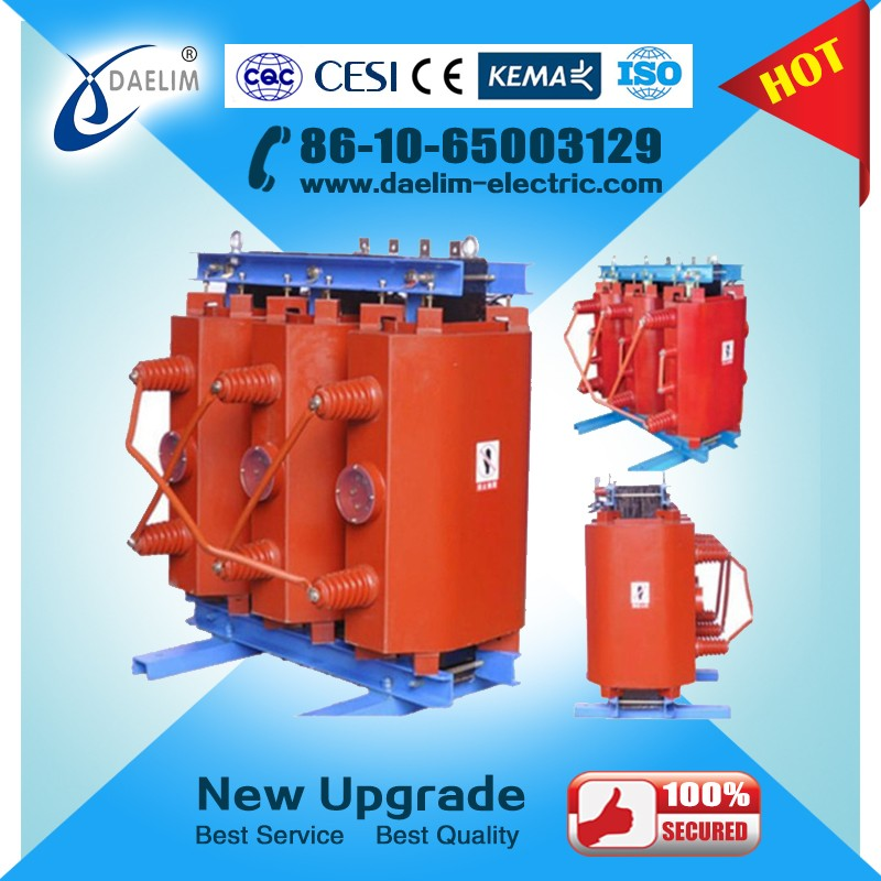 IP54 Cast Resin Dry Type Power Transformer 20/6.3 2500kva