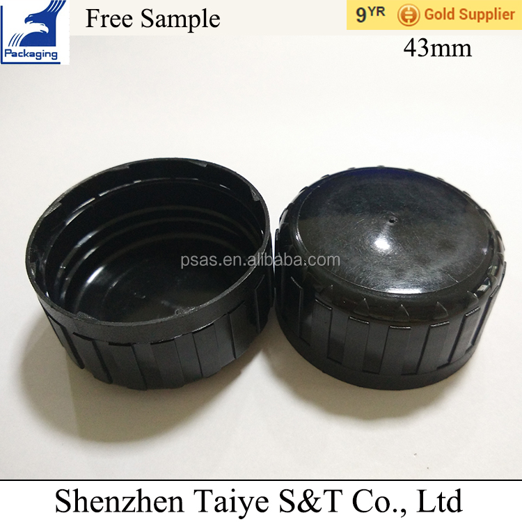 Tamper evident plastic screw cap 43mm for bottle use