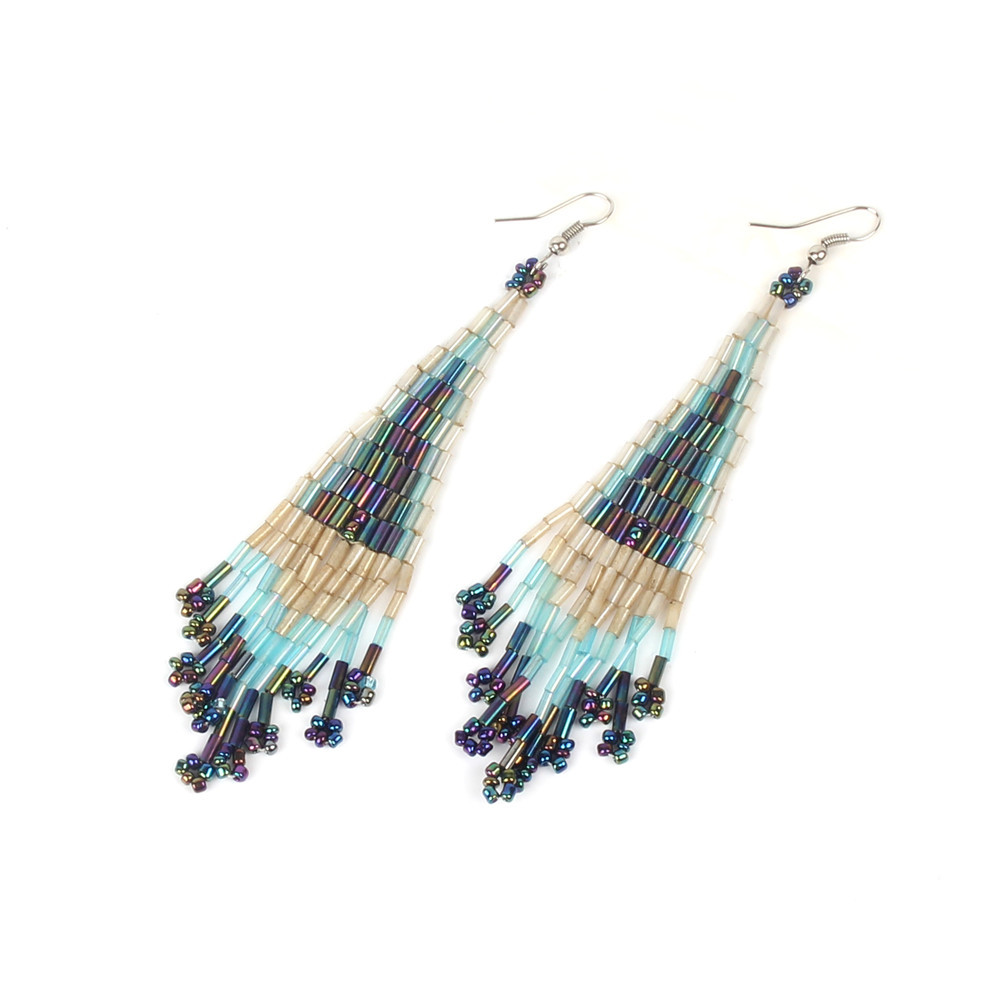 High-end imported Japanese beads earrings ethnic tassel earrings women <strong>jewelry</strong>