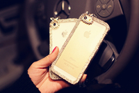 2015 Hot selling diamond transparent back case for iphone 6, for iphone 6 diamond case