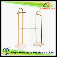 japanese prom dress display stand metal wood garment rack for cloth shop