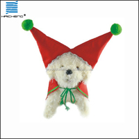 pet dog Christmas red costumes