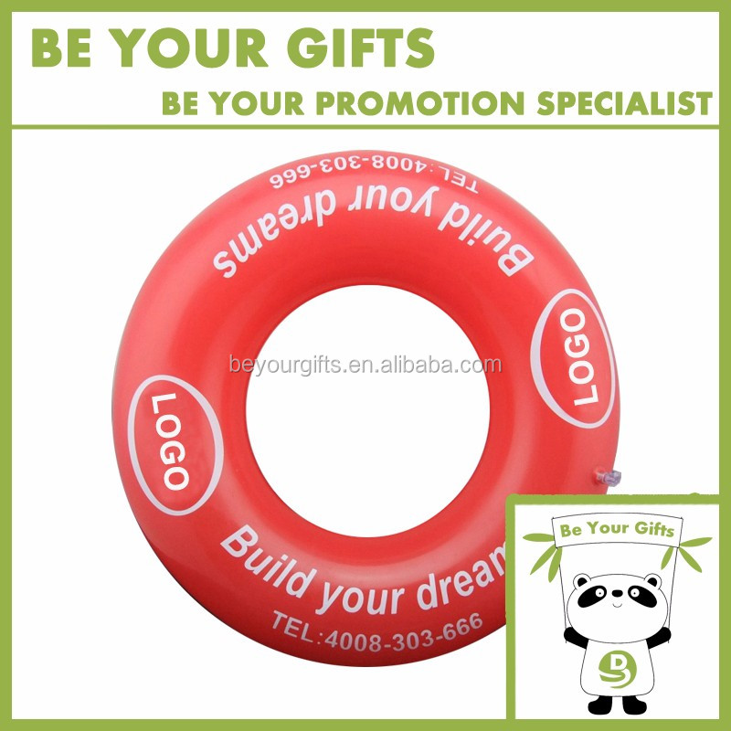 Promotional Custom Logo PVC Inflatable Swimming Ring for Adult