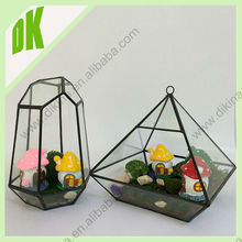 Perfect gift for wedding! made by hand from clear glass, Lead - free solder decor geometric glass pot for plant